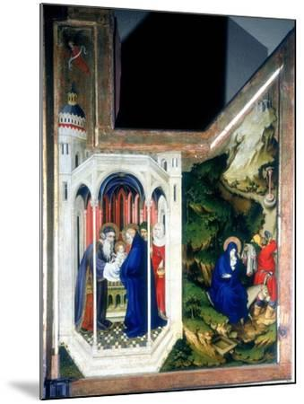 The Presentation at the Temple and the Flight into Egypt, 1394-1399-Melchior Broederlam-Mounted Giclee Print