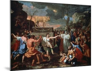 The Adoration of the Golden Calf, C1635-Nicolas Poussin-Mounted Giclee Print