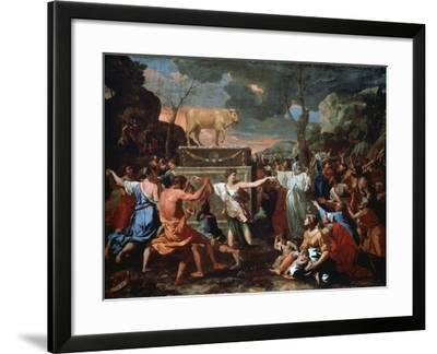 The Adoration of the Golden Calf, C1635-Nicolas Poussin-Framed Giclee Print
