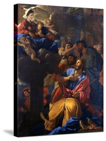 The Apparition of the Virgin to St James the Great, C1629-1630-Nicolas Poussin-Stretched Canvas Print