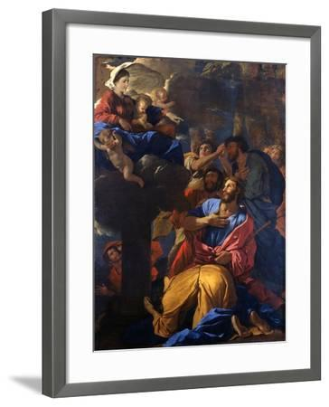 The Apparition of the Virgin to St James the Great, C1629-1630-Nicolas Poussin-Framed Giclee Print