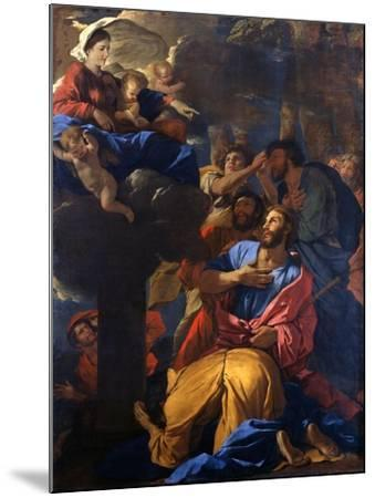 The Apparition of the Virgin to St James the Great, C1629-1630-Nicolas Poussin-Mounted Giclee Print