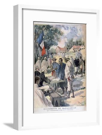 Enlisting Natives on the Island of La Reunion, 1895-Oswaldo Tofani-Framed Giclee Print