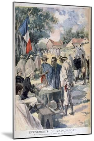 Enlisting Natives on the Island of La Reunion, 1895-Oswaldo Tofani-Mounted Giclee Print
