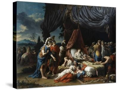 The Death of the Woman of Darius, 1785-Louis Jean Francois Lagrenee-Stretched Canvas Print