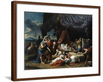 The Death of the Woman of Darius, 1785-Louis Jean Francois Lagrenee-Framed Giclee Print