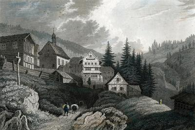 The Church Maria Schnee, Rigi, Switzerland, 1850-Martini-Framed Giclee Print