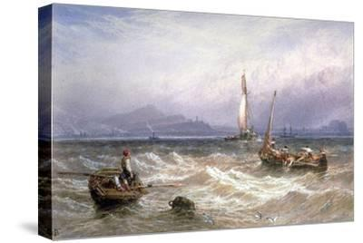 Seascape, 19th Century-Myles Birket Foster-Stretched Canvas Print