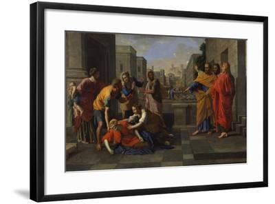 The Death of Sapphira, 1654-1656-Nicolas Poussin-Framed Giclee Print