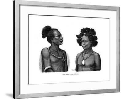 Papuan Types, 19th Century- Mesples-Framed Giclee Print