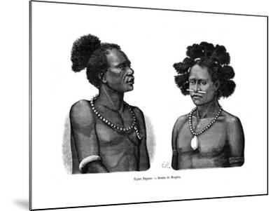 Papuan Types, 19th Century- Mesples-Mounted Giclee Print