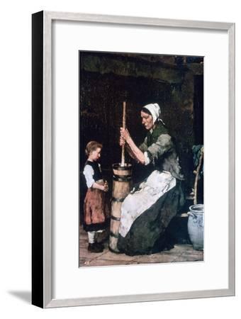 Woman at the Churn, C1864-1900-Mihaly Munkacsy-Framed Giclee Print