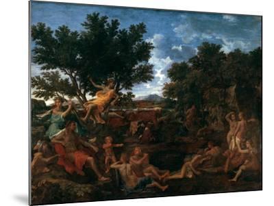 Apollo, Lover of Daphne, C1664-Nicolas Poussin-Mounted Giclee Print
