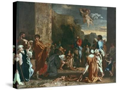 Jesus Enters Jerlusalem, C1630-Nicolas Poussin-Stretched Canvas Print