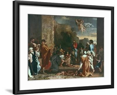 Jesus Enters Jerlusalem, C1630-Nicolas Poussin-Framed Giclee Print