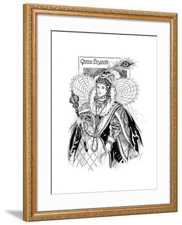 Queen Elizabeth I (1533-160), 1897-M Bowley-Framed Giclee Print