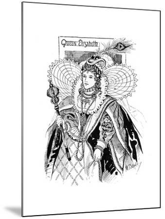 Queen Elizabeth I (1533-160), 1897-M Bowley-Mounted Giclee Print