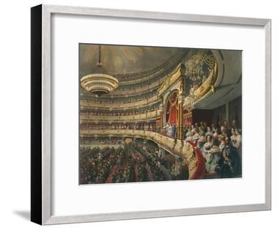 Auditorium of the Bolshoi Theatre, Moscow, Russia, 1856-Mihály Zichy-Framed Giclee Print