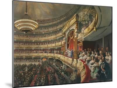 Auditorium of the Bolshoi Theatre, Moscow, Russia, 1856-Mihály Zichy-Mounted Giclee Print