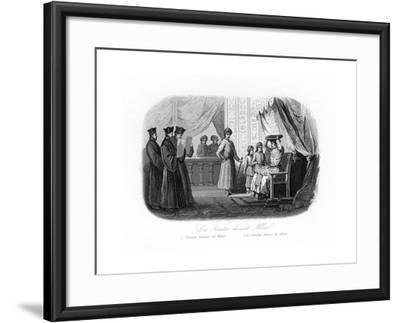Jesuits in Front of Akbar, 1580S, (C184)-N Remond-Framed Giclee Print