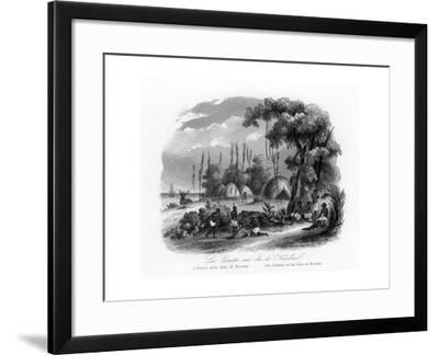 Jesuits in the Nicobar Islands, India, C1840-N Remond-Framed Giclee Print