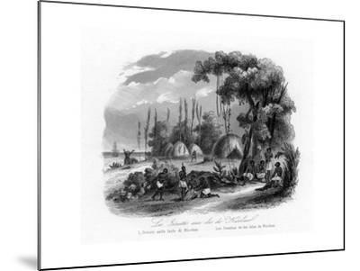 Jesuits in the Nicobar Islands, India, C1840-N Remond-Mounted Giclee Print