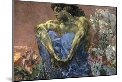 Demon Seated in a Garden, 1890-Mikhail Vrubel-Mounted Giclee Print