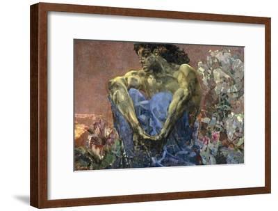 Demon Seated in a Garden, 1890-Mikhail Vrubel-Framed Giclee Print