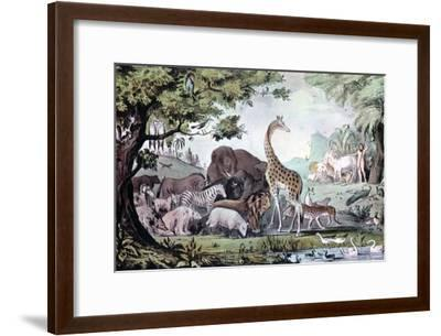 Adam Naming the Creatures, 1847-Nathaniel Currier-Framed Giclee Print