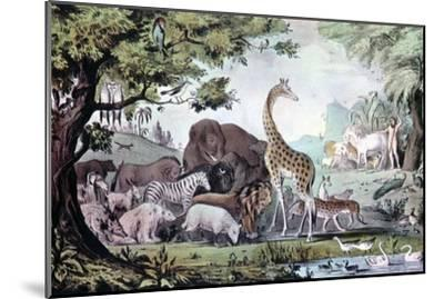 Adam Naming the Creatures, 1847-Nathaniel Currier-Mounted Giclee Print