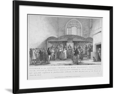 Interior of the Guildhall Chapel, City of London, 1817-M Springsguth-Framed Giclee Print