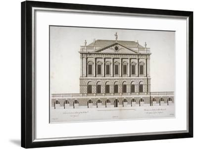 Elevation of Buckingham House, St James's Park, Westminster, London, C1770-Matthew Darly-Framed Giclee Print