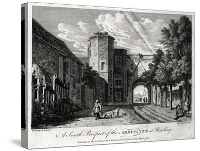 A South Prospect of the Abby-Gate at Reading, Berkshire, 1775-Michael Angelo Rooker-Stretched Canvas Print