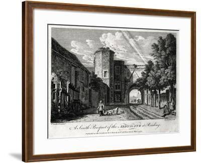 A South Prospect of the Abby-Gate at Reading, Berkshire, 1775-Michael Angelo Rooker-Framed Giclee Print