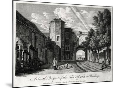 A South Prospect of the Abby-Gate at Reading, Berkshire, 1775-Michael Angelo Rooker-Mounted Giclee Print