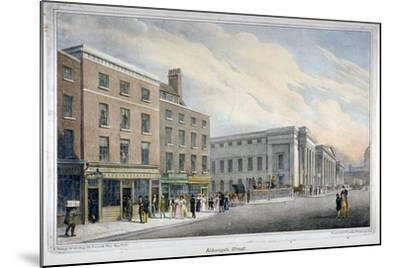 Aldersgate Street, City of London, C1830-Nathaniel Whittock-Mounted Giclee Print