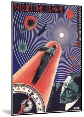 Poster for the Film Travel to Mars, 1926-Nikolaj Prusakov-Mounted Giclee Print