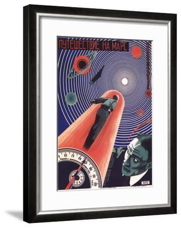 Poster for the Film Travel to Mars, 1926-Nikolaj Prusakov-Framed Giclee Print