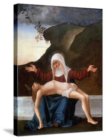 Pieta, Early 16th Century-Lodovico Mazzolini-Stretched Canvas Print