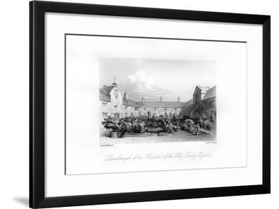 Hospital of the Holy Trinity, Croydon, 1840-MJ Starling-Framed Giclee Print