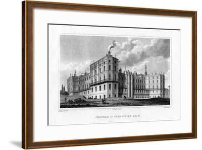 Chateau De Saint Germain En Laye, Paris, C1830-MJ Starling-Framed Giclee Print