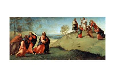 Christ Leading the Apostles to Mount Tabor, 1512-Lorenzo Lotto-Framed Giclee Print