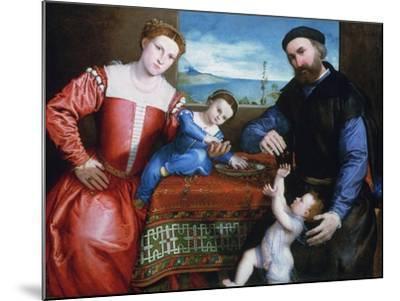 Giovanni Della Volta with His Wife and Children, C1547-Lorenzo Lotto-Mounted Giclee Print