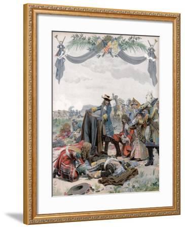 Death of Henri, Vicomte De Turenne, French Soldier, 1675 (C1871-194)-Maurice Leloir-Framed Giclee Print