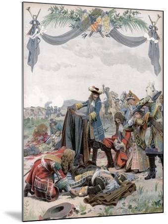 Death of Henri, Vicomte De Turenne, French Soldier, 1675 (C1871-194)-Maurice Leloir-Mounted Giclee Print