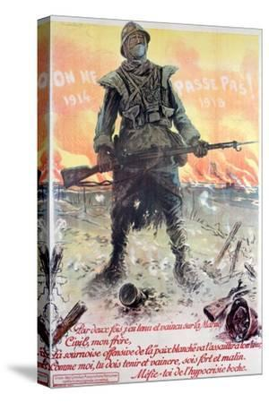 They Shall Not Pass! 1914-1918, 1918-Maurice Neumont-Stretched Canvas Print
