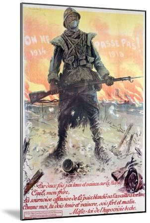They Shall Not Pass! 1914-1918, 1918-Maurice Neumont-Mounted Giclee Print