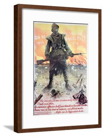 They Shall Not Pass! 1914-1918, 1918-Maurice Neumont-Framed Giclee Print