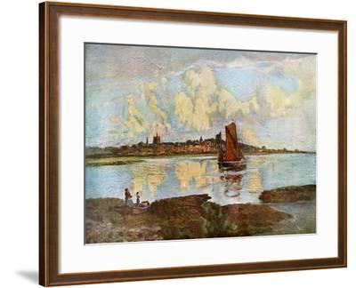 Maldon, from Heybridge, Essex, 1924-1926-Louis Burleigh Bruhl-Framed Giclee Print