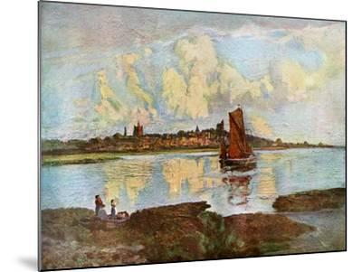 Maldon, from Heybridge, Essex, 1924-1926-Louis Burleigh Bruhl-Mounted Giclee Print